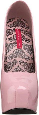 (Baby Pink Patent) Pleaser Bordello Women's Teeze-06 Pump | Pumps