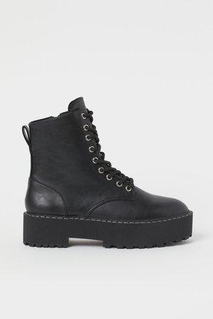 Platform Boots - Black - Ladies | H&M US