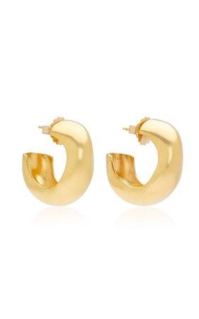 Celia Medium Gold Vermeil Hoops By Agmes | Moda Operandi