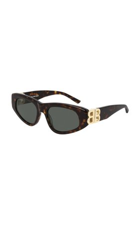 Dynasty Cat-Eye Tortoiseshell Sunglasses By Balenciaga | Moda Operandi