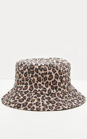 Leopard Print Bucket Hat | Accessories | PrettyLittleThing