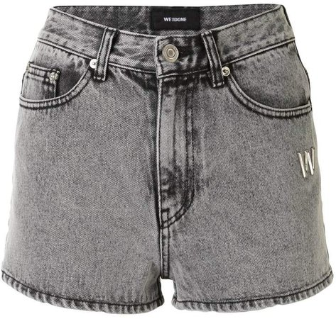 Logo-Plaque Denim Shorts