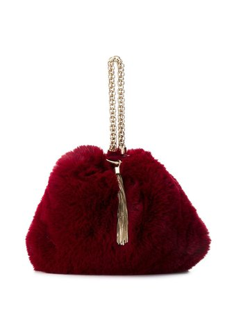 Jimmy Choo Callie faux fur clutch $995 - Buy Online AW19 - Quick Shipping, Price
