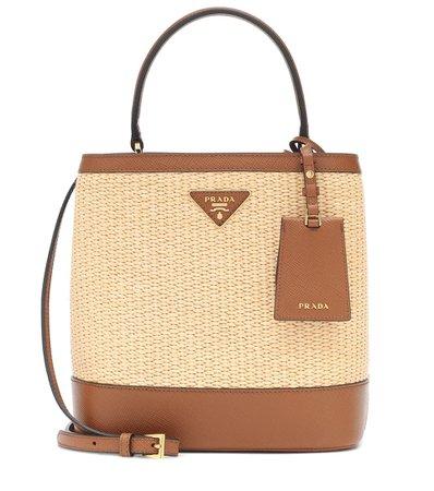 Panier Medium Straw Shoulder Bag - Prada | Mytheresa