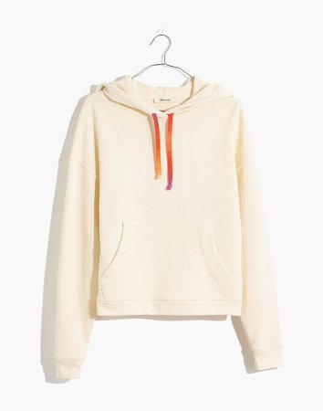 Rainbow Drawstring Hoodie Sweatshirt