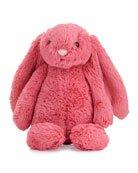 Jellycat Plush Bashful Bunny Chime Stuffed Animal, Pink | Neiman Marcus