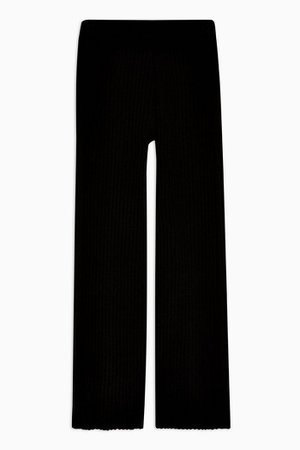Black Ribbed Trousers | Topshop