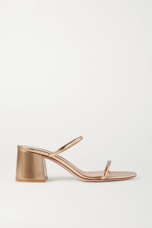 Gold 60 metallic leather sandals | Gianvito Rossi | NET-A-PORTER