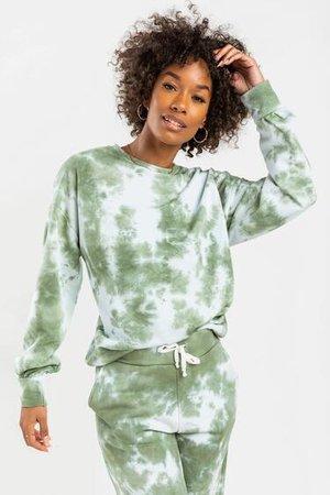 Candice Tie-Dye Fleece Sweatshirt   francesca's