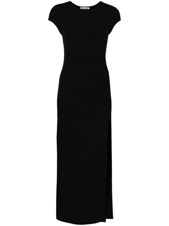Shop black Reformation Brecken ruched midi dress with Express Delivery - Farfetch