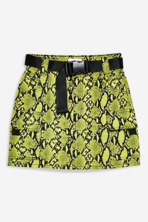 Snake Clip Buckle Denim Skirt - Skirts - Clothing - Topshop USA