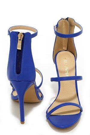 Sexy Blue Heels - Dress Sandals - High Heel Sandals - $32.00