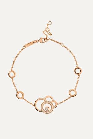 Rose gold Happy Dreams 18-karat rose gold diamond bracelet | Chopard | NET-A-PORTER