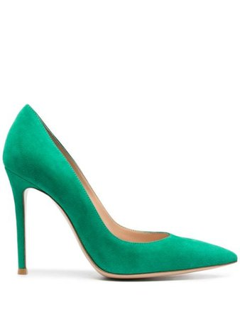 Gianvito Rossi suede pumps green G2847015RICCAM - Farfetch