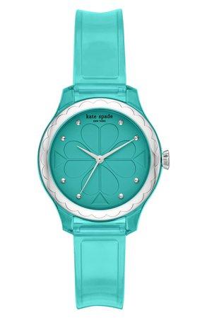 kate spade new york rosebank transparent strap watch, 32mm | Nordstrom