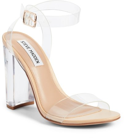 Camille Clear Ankle Strap Sandal