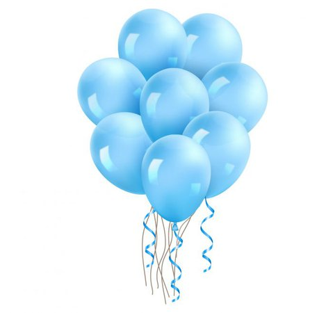20 ct 12-in Light Blue Color Latex Balloon Different Sizes - PartyZealot
