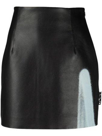Off-White Leather mini skirt