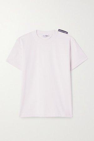 Cotton-jersey T-shirt - Pastel pink
