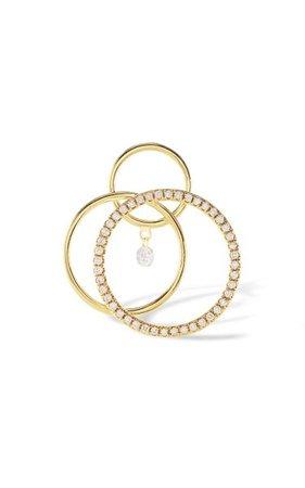 18k Yellow Gold Tourbillon Diamond Earrings By Persée | Moda Operandi