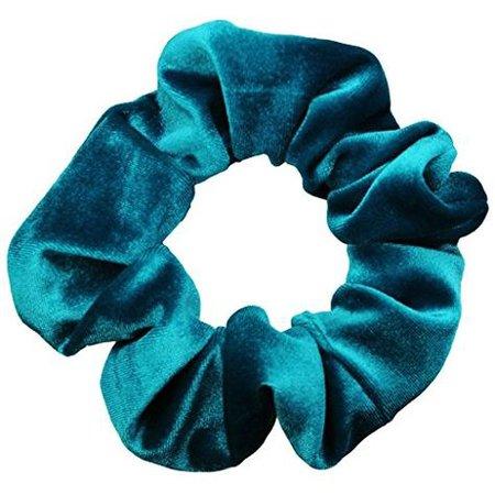 blue velvet png filler scrunchie