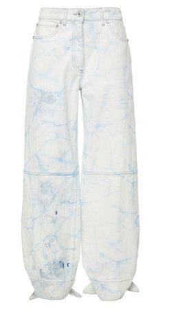 white blue jeans pants