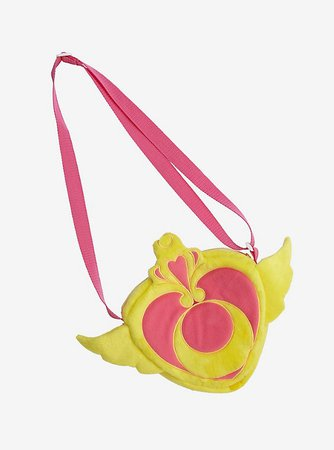 Sailor Moon Heart Brooch Plush Crossbody Bag
