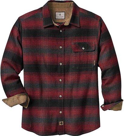 Amazon.com: Legendary Whitetails Mens Buck Camp Flannel Shirt, Cabin Fever Red Plaid, Medium: Clothing