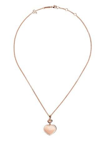 Chopard Collana Con Ciondolo a Cuore Happy Hearts In Oro Rosa 18kt e Diamanti - Farfetch