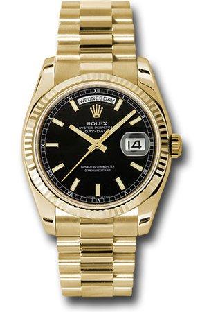 Rolex 118238 bksp Day-Date President (YG|Fluted Bez|President)