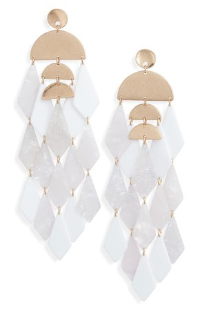 Stella + Ruby Merengue Resin Drop Earrings | Nordstrom