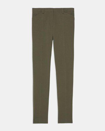 Bi-Stretch Cotton Twill Seamed Trouser   Theory