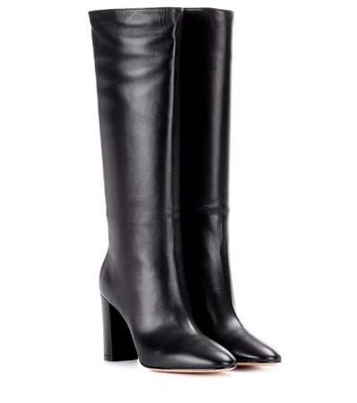 Laura 85 Leather Boots - Gianvito Rossi | mytheresa