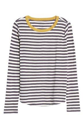 Whisper Cotton Rib-Crewneck Long-Sleeve T-Shirt | Nordstrom