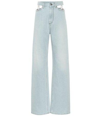 Jeans Anchos De Tiro Alto | Maison Margiela - Mytheresa