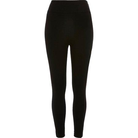 Black high waisted leggings | River Island
