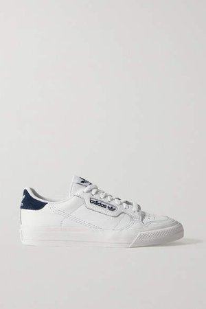 Continental Vulc Suede-trimmed Leather Sneakers - White