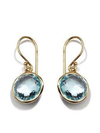 IPPOLITA 18kt Yellow Gold Small Lollipop Blue Topaz Drop Earrings - Farfetch