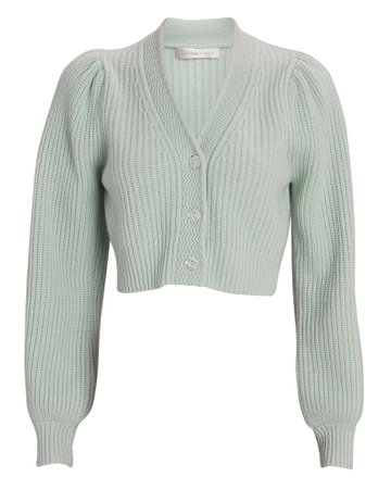 LoveShackFancy Avignon Cropped Cardigan | INTERMIX®