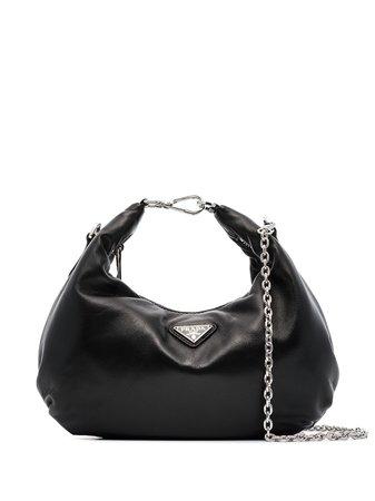 Prada triangle-logo leather shoulder bag - FARFETCH