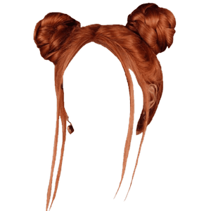 Space Buns Red Ginger Hair PNG
