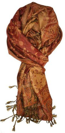 paisley pashmina fall colors