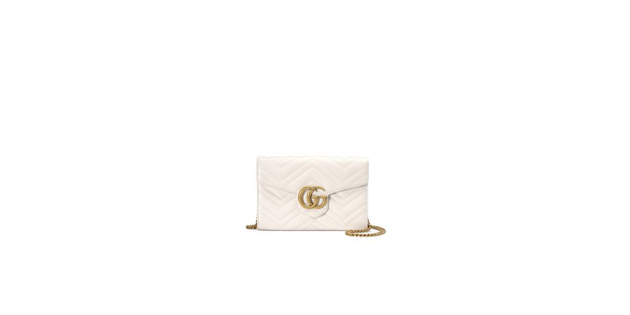 White GG Mini Chain Wallet GUCCI bag