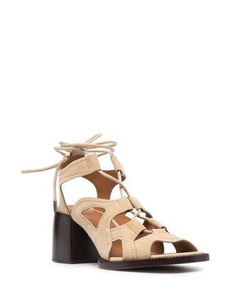 Chloé Gaile lace-up Sandals - Farfetch