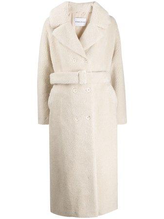 STAND STUDIO Faustine Faux Fur Coat - Farfetch