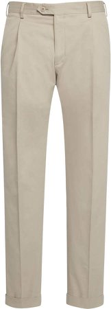Brioni Pleated Cotton Trousers