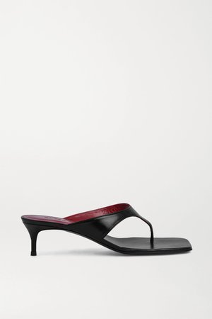 Black Jackie leather sandals | BY FAR | NET-A-PORTER