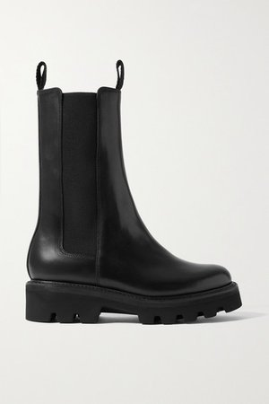 Doris Leather Chelsea Boots - Black
