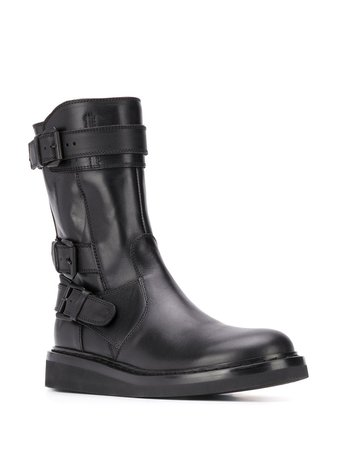 Ann Demeulemeester buckled-strap Ankle Boots - Farfetch