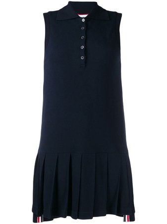 Thom Browne Pleated Tennis Shift Dress - Farfetch